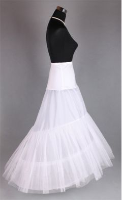 2-Hoop Bridal Mermaid Petticoat