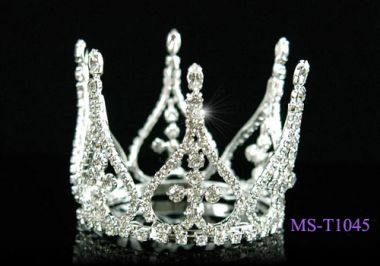 Silver Plated Mini Crown for Christening, Wedding
