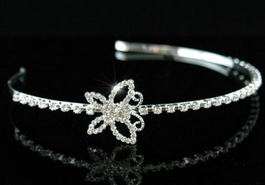 Silver Plated Clear Crystal Bridal Headband