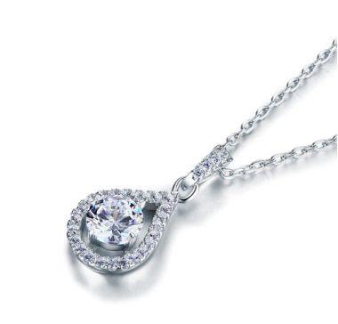 "Bridal Necklace 1 Carat Simulated Diamond ""Katrina"""