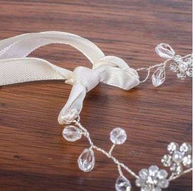 Bridal Cute Headpiece with Crystals and Flowers