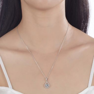"Bridal Necklace 1 Carat Simulated Diamond ""Katrina""Bridal Necklace 1 Carat Simulated Diamond ""Katrina"""