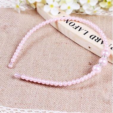 Pretty Beaded Headband in Pink