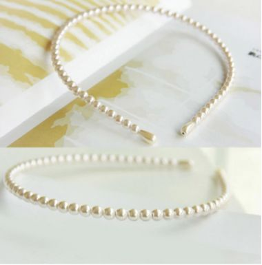 """Faux Pearl Headband for Bride, Bridesmaid or Every Day """"Lassi"""""""