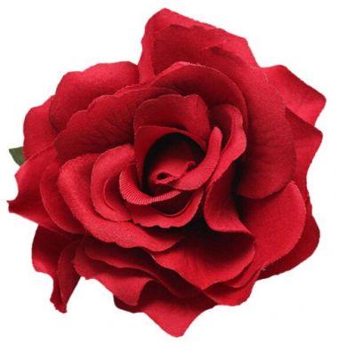 """Red Rose Hair Flower, Broach, Clip """"Polyantha"""""""