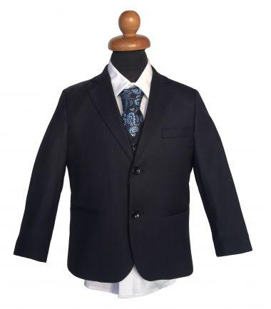 Κοστούμι σε Σκούρο Μπλε - Μαύρο, Μαρέν για Αγόρι, Παραγαμπράκι
