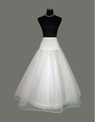 1 Hoop Underskirt - Petticoat - Crinoline For A-line Dress