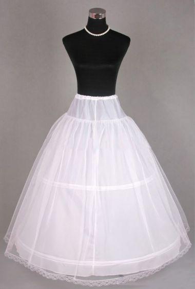2 Hoop Underskirt - Petticoat - Crinoline with Net Layer