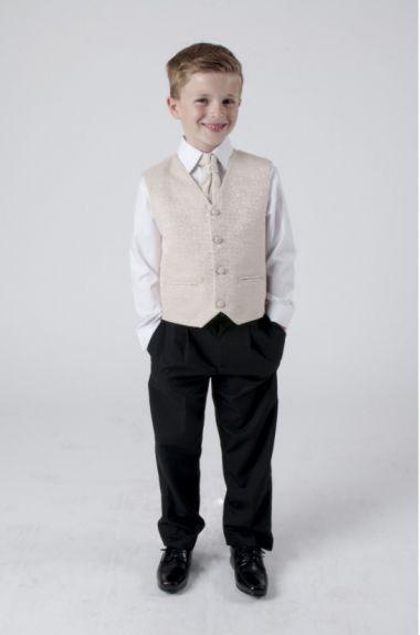 "Boys 4 Piece Suit in Beige Champagne Swirl ""Rocco"""